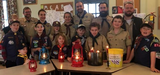 Pack 279 assembles for a Peace Light ceremony